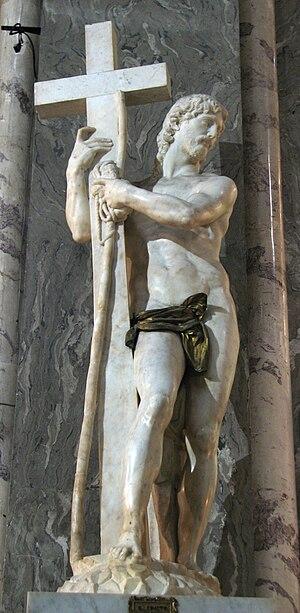 Risen Christ (Michelangelo, Santa Maria sopra Minerva) - Image: Michelangelo Christ