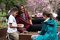 Michelle Obama joins students for the spring garden planting, 2015.jpg