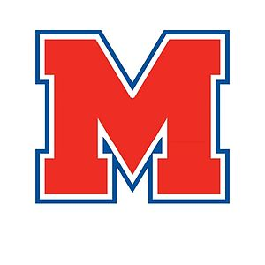 Midway High School - Image: Midway Red M Blue Trim