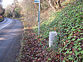 Milestone - 3 Miles to Chepstow on the A466 - geograph.org.uk - 204886.jpg