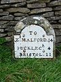 Milestone 14 at Dyrham and Hinton.jpg