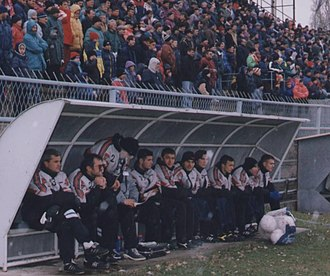 OFK Bor - Bor during Second League of Yugoslavia match with Brkić as manager in 90's