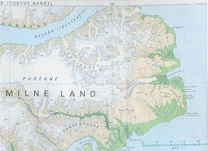 David Milne (Royal Navy officer) - Map of Milne Land