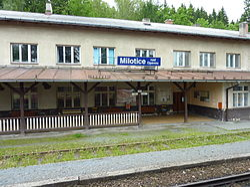 Milotice nad Opavou station.JPG