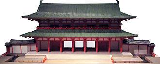 Rajōmon - Possible appearance of the gate, miniature model