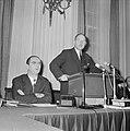Minister Luns tijdens zijn rede in de Tweede Kamer in verband met de jongste EEG, Bestanddeelnr 914-7741.jpg