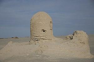 Miran (Xinjiang) - Stupa at Miran