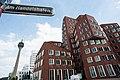 Modern architecture of Düsseldorf, Der Neue Zollhof, Western Germany, Western Europe. May 6, 2013.jpg