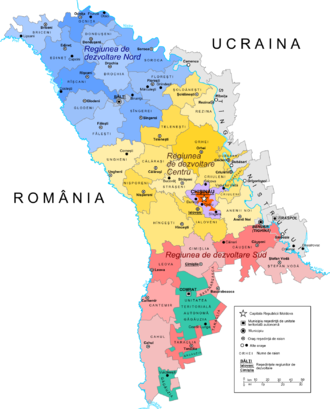 Administrative divisions of Moldova - Current administrative divisions of Moldova