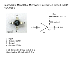 Monolithic microwave integrated circuit - MMIC MSA-0686.