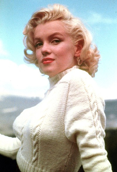 Marilyn Monroe, American actress, model, and singer