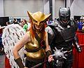 Montreal Comiccon 2016 - Hawkgirl and Batman (28155645262).jpg