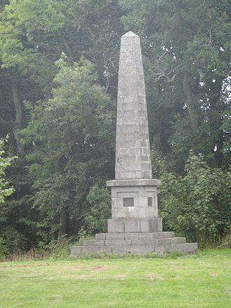 Crimonmogate - The simple obelisk designed by Simpson to commemorate Milne