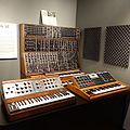 Moog synthesizers - angled left, Robert Moog booth - National Inventors Hall of Fame and Museum, USPTO building in Alexandria, Virginia, 2014-09-24.jpg