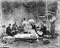 Moon family picnic in the woods, Seattle, Washington, ca 1910 (SEATTLE 2795).jpg