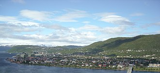 Mosjøen - Downtown as well as northern and north-eastern parts of Mosjøen