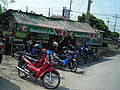 Motocycle taxis waiting - Samut Prakan.JPG