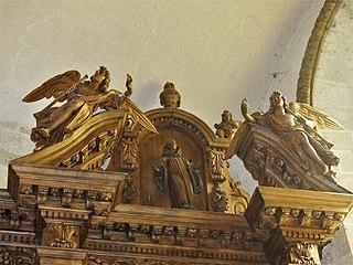 6 statues du retable du maître-autel à Moutier-d'Ahun