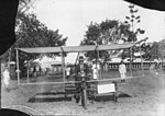 Mr. A.B. Milne with his box kite, Mackay Showgrounds (14429400140).jpg