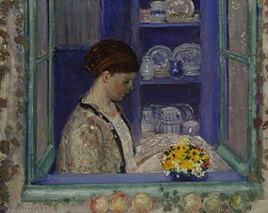 Frederick Carl Frieseke - Mrs. Frieseke at the Kitchen Window, 1912