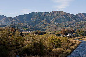 Mt.Kyogatake from Sumita-bridge 01.jpg