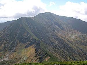 Mount Poroshiri - A view from Mount Tottabetsu(September 2006)