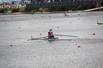 Iran at the 2012 Summer Olympics - Soulmaz Abbasi paddled her own pace in women's singles sculls.