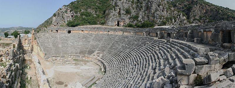Teatro griego de Myra, en la actual Turquía