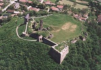Nógrád - Nógrád, castle from a bird's eye view
