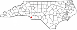 Location of Weddington, North Carolina