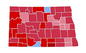 United States presidential election in North Dakota, 1984 - Image: ND1984