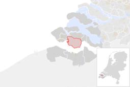 Locatie van de gemeente Borsele (gemeentegrenzen CBS 2016)