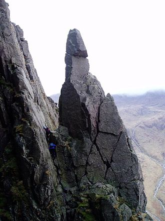History of rock climbing - Napes Needle, first climbed by W P Haskett Smith in 1886