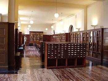 Primera planta de la Biblioteca Nacional de Noruega en Oslo