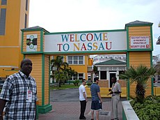 Welcome gateway of Nassau, Bahamas