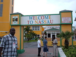 Nassau, Bahamas welcome gateway.JPG