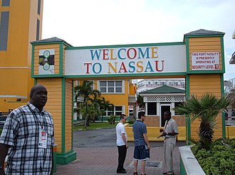 Nassau, Bahamas - Welcome gateway of Nassau, Bahamas