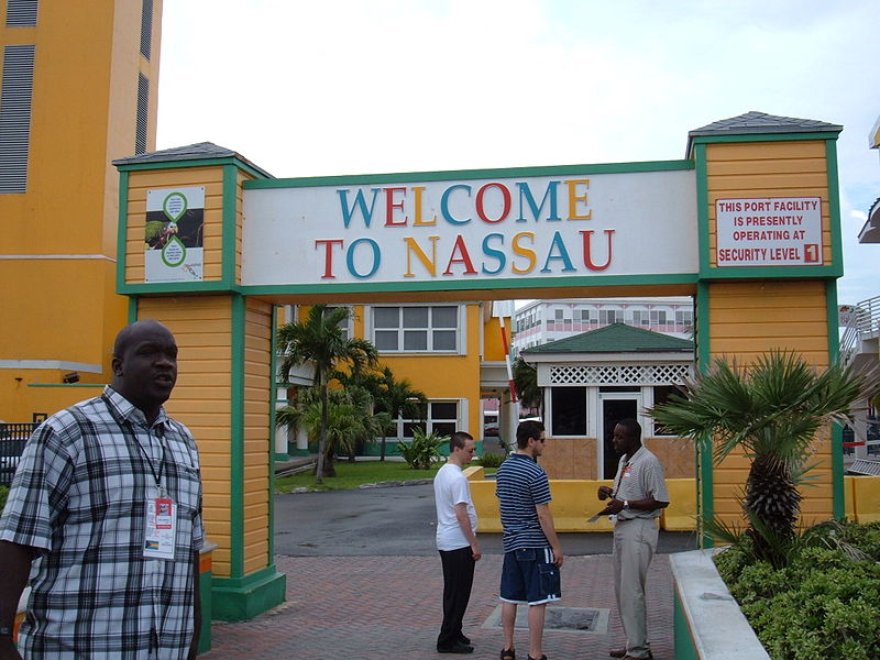 Welcome gateway of Nassau, Bahamas