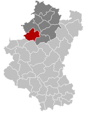 Nassogne - Image: Nassogne Luxembourg Belgium Map