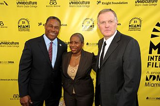 Bob Griese - Nat Moore, guest and Griese at the 2014 Miami International Film Festival