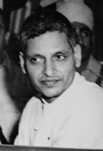 Nathuram Godse - Nathuram Godse at his trial for the murder of Mahatma Gandhi