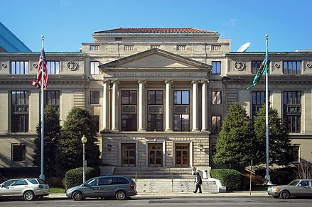 National Geographic Society's Administration Building in Washington, D.C. National Geographic Society Administration Building.JPG
