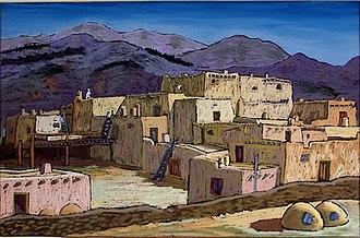 Taos art colony - Helmut Naumer, Sr. (1935–36), Taos Pueblo