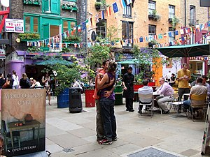 English: Neal's Yard This colourful enclave cl...