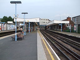 Neasden station look westbound look east