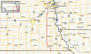 Nebraska Highway 50 - Image: Nebraska Highway 50 map