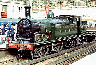 Tank locomotive - A typical side tank locomotive from 1897