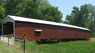 National Register of Historic Places listings in Vermillion County, Indiana - Image: Newport Covered Bridge