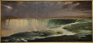 Niagara Falls, from the American Side - Niagara, 1857. Oil on canvas, 102 × 230 cm. Corcoran collection,  National Gallery of Art, Washington