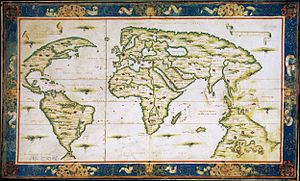 Dieppe maps - World map of Nicolas Desliens, 1566.